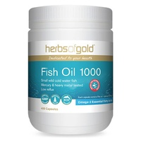 Herbs of Gold Fish Oil 1000 - 400 capsules