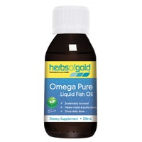 Herbs of Gold Omega Pure Liquid Fish Oil - 200mL