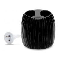 Aromamatic Electric Wax Melt Warmer - Black Textured