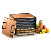 Excalibur Stainless 9 Tray Food Dehydrator with 26Hr Timer - Copper