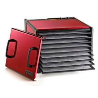 Excalibur Stainless 9 Tray Food Dehydrator with 26 Hr Timer - Radiant Cherry