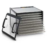 Excalibur Stainless 9 Tray Food Dehydrator with 26 Hr Timer - Clear door