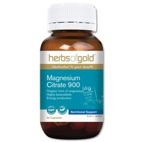 Herbs of Gold Magnesium Citrate 900 - 60 vegetable capsules