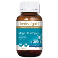 Herbs of Gold Mega B Complex - 60 vegetable capsules