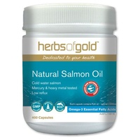 Herbs of Gold Natural Salmon Oil - 400 capsules