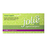 Jolie Organic Cotton Tampons With Applicators - 16 Pack
