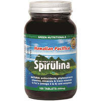 MicrOrganics Green Nutritionals Hawaiian Pacifica Spirulina 500mg 100t