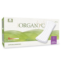 Organyc Organic Cotton Panty Liners - 24 Flat Liners