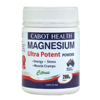 Cabot Health Ultra Potent Magnesium Powder - Citrus 200g