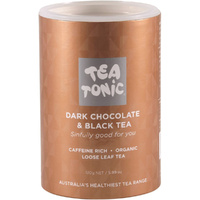 Tea Tonic Organic Dark Chocolate and Black Tea - 170g Tube
