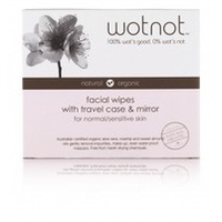 Wotnot Facial Wipes Travel Case with Mirror Normal/Sensitive Skin