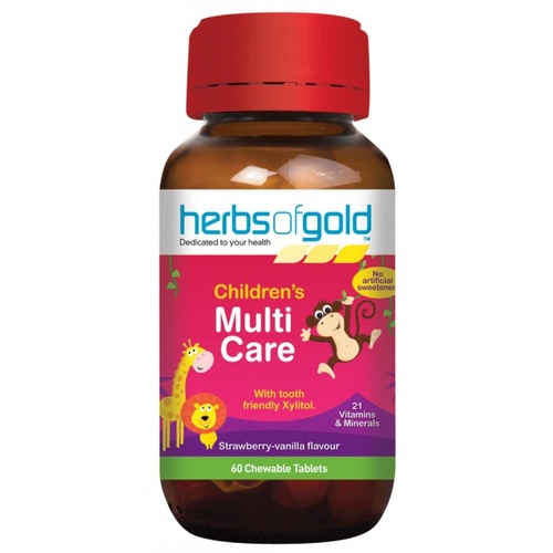 Herbs of Gold Children's Multi Care - 60 chewable tablets