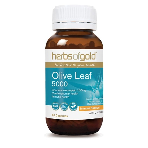 Herbs of Gold Olive Leaf 5000 - 60 vegetable capsules