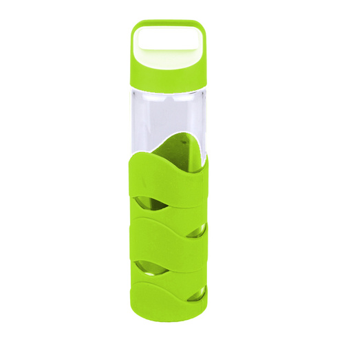 Kuvings Glass Bottle with Silicon Sleeve - Handle/Lime